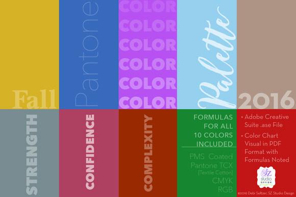 Best Pantone Fall 2016 Color Palette
