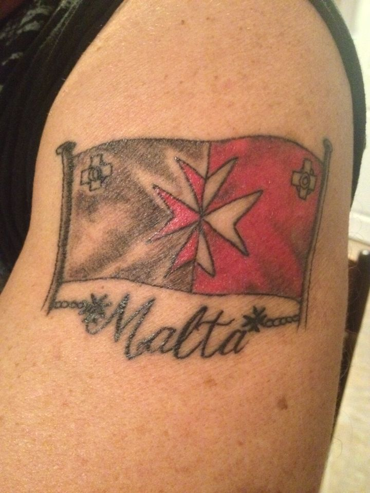 Maltese flag tattoo, Maltese Cross Beautiful Pinterest