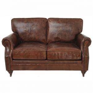 Steinmets Industrial Leather Loveseat