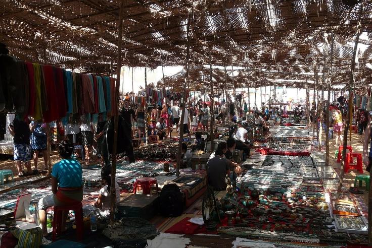 anjuna beach market, goa