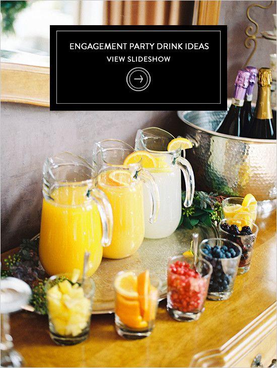 Engagement Party Drink Ideas @weddingchicks