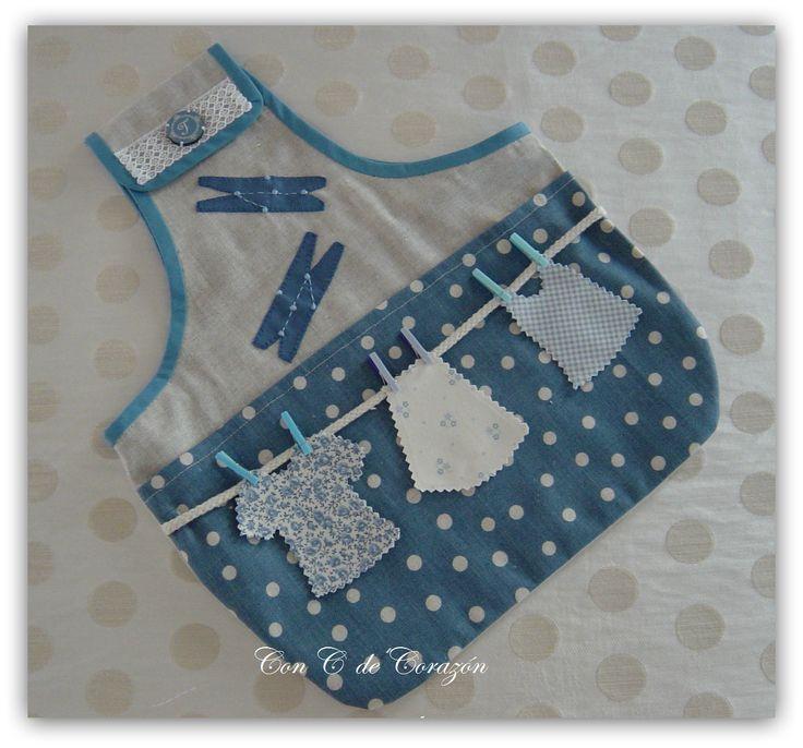 Bolsa para pinzas con c de corazon costura pinterest for Porta ganchos de ropa