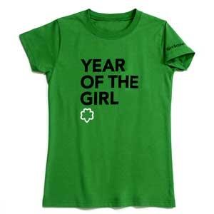 Girl Scout Shop - Green Year Of The Girl T-Shirt: Every Girls, Girls Tshirt, Girls Tees, Girls T Shirts, Girl Scouts, Girls Scouts, Scouts Gears, Girlscoutshopcom 15, Girls Rocks