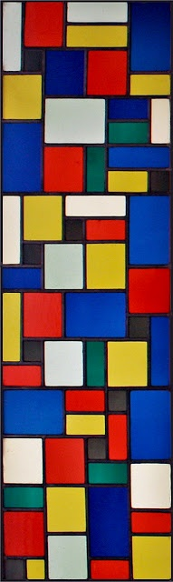 Theo van Doesburg Stained Glass Windows c1927