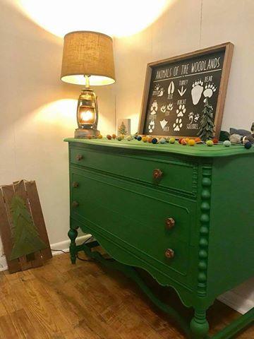 MY HAPPY PLACE, Vintage Marketu0027s Customeru0027s Nursery Pics, Featuring The New  Color Dixie Belle Paint In Evergreen! #dixiebellepaint  #bestpaintonplanetearth ...