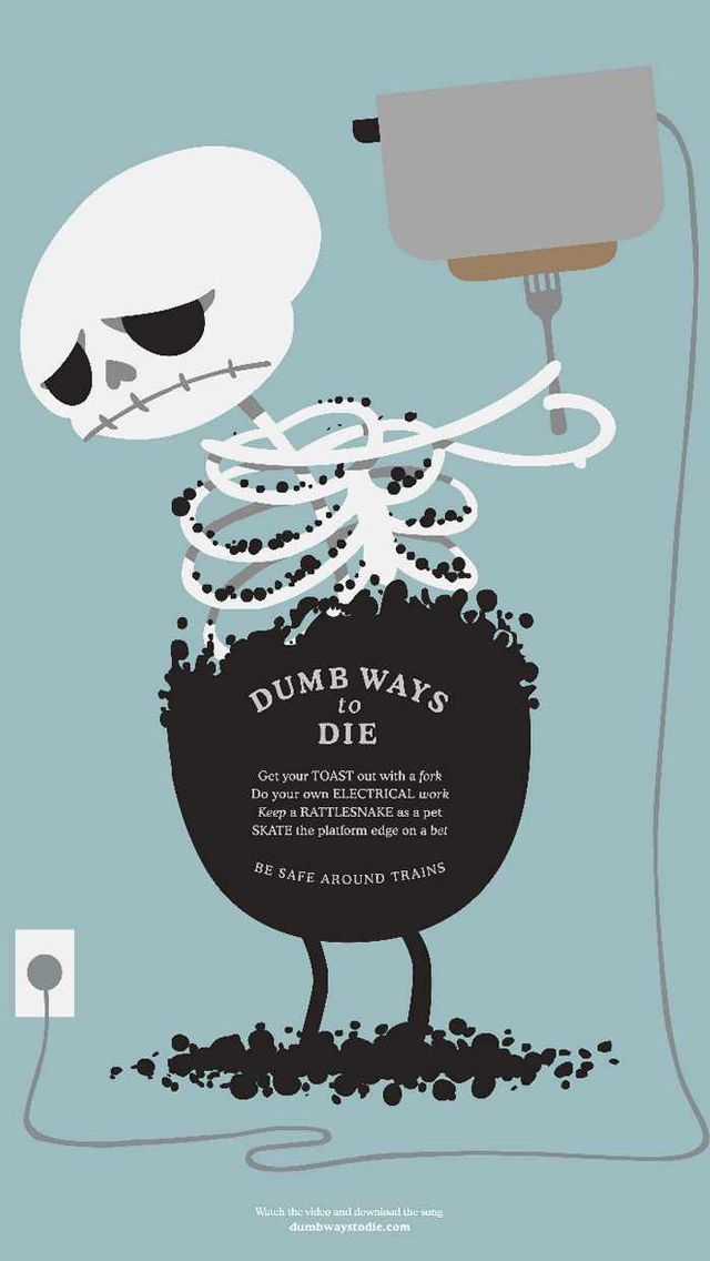 Dumb Ways to Die_Toast - Funny Cartoon iPhone wallpapers @mobile9