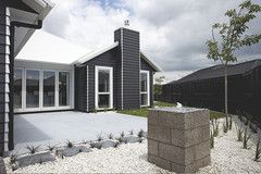 Linea weatherboards  ?silver ally joinery