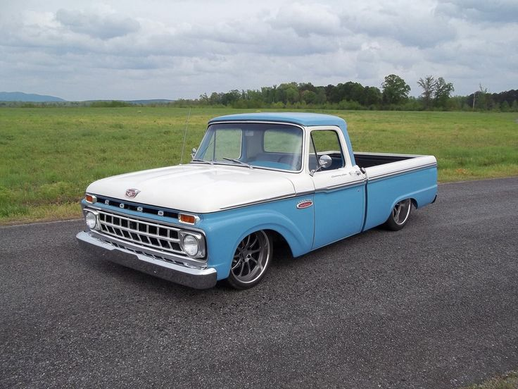 Butler's '65 Ford 100 truck recently underwent a pro-touring transformation by Big Oak Garage that included a fresh LS1 engine, stretched & mini-tubbed chassis, Roadster Shop Revo front end, RideTech Triangulated 4-Link rear, Michelin Pilot Super Sport tires, and Forgeline ZX3P wheels finished with Satin Gunmetal centers & Polished outers. See more at: http://www.forgeline.com/customer_gallery_view.php?cvk=1344  #Forgeline #ZX3P #notjustanotherprettywheel #madeinUSA #Ford #F100 #pickup