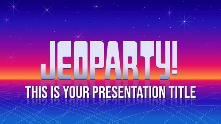 Free Jeopardy Interactive Powerpoint Template Or Google Slides Theme Interactive Powerpoint Google Slides Themes Powerpoint Game Templates