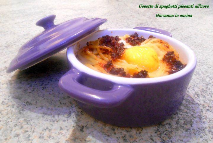 Cocotte di spaghetti piccanti all'uovo, senza sale, giovanna in cucina