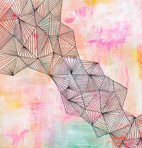 Faultline - Abstract Painting | Lisa Congdon