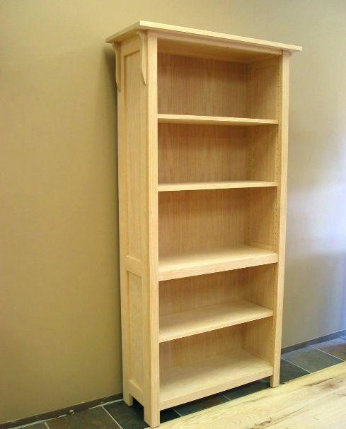 Free Standing Unfinished Wood Bookshelf Design Home Interiors