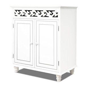 Commode JERSEY blanche buffet blanc dressoir style intérieur séjour 76cmx65cmx35cm