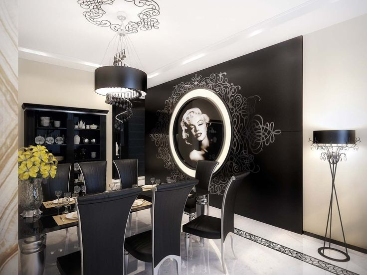 Modern Vintage Apartment Interior Design [[MORE]] Moscow Based Interior  Decorators, Geometrix Have Stumped Us With This Modern Vintage, Black And  White ...