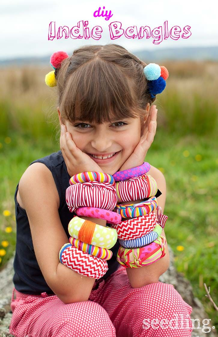 Express your own unique style with our diy Indie Bangles kit! Perfect gift for creative girls! www.seedling.com