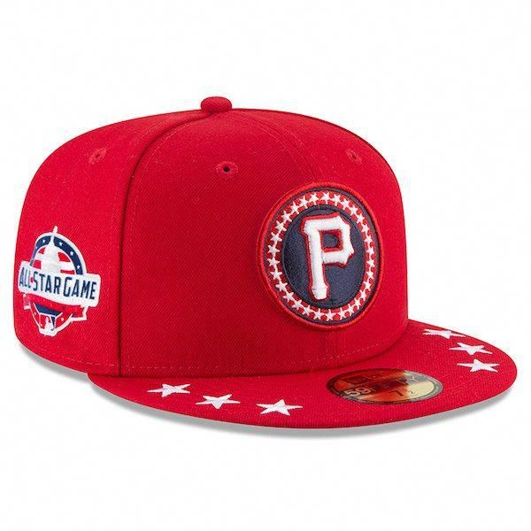 buy popular 47a79 29488 ... spain mens pittsburgh pirates new era red 2018 mlb all star workout on  field 59fifty fitted