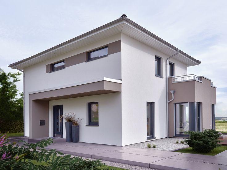 stadtvilla modern einfamilienhaus concept m 145 von bien zenker fertighaus bauen haus. Black Bedroom Furniture Sets. Home Design Ideas