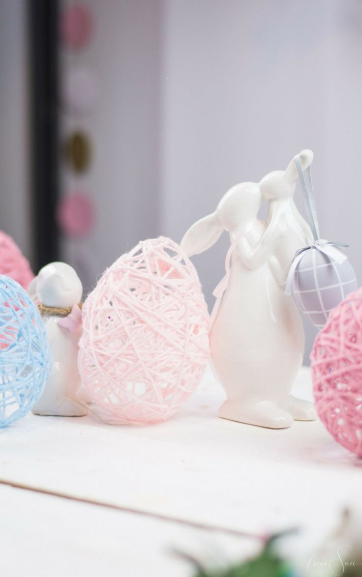 Eenvoudige instructies voor het maken van Pasen zijn de paaseieren gemaakt van wol, die …  – Ostern