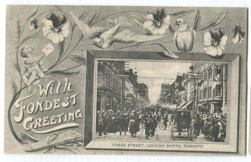 Canada #90i 2c Rose-car on 1910 Yonge St.View Postcard to Mons, Belguim XF-94 in Stamps, Canada, Used | eBay