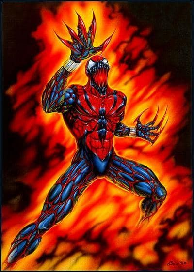 #Spiderman #Fan #Art. (Spider-Carnage) By: Dimitri Patelis. ÅWESOMENESS!!!™ ÅÅÅ+