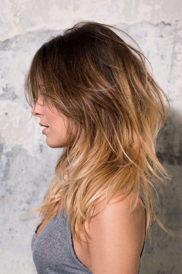 Frisuren für mittellange Haare F/S 2014 Gut sichtbare Stufen schaffen besonderes Volumen im vollen Haar bei Mod's Hair, der Ombré Style