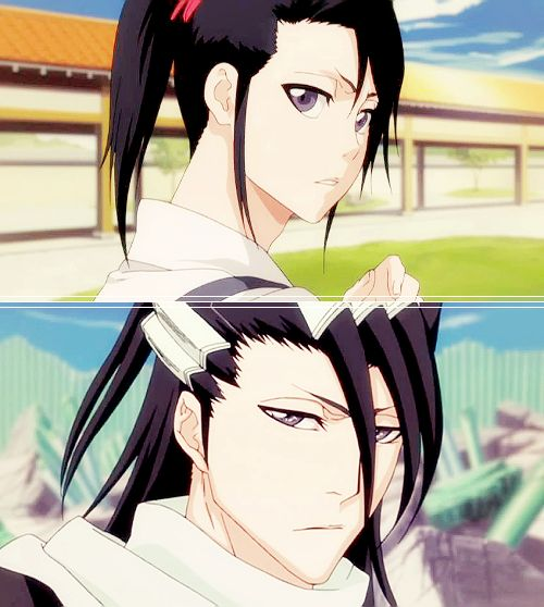 Byakuya. Then and now. #bleach