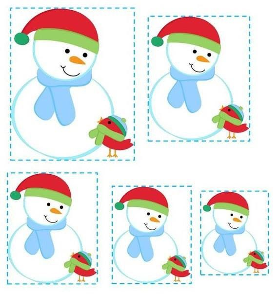 Snowman ⛄️ sequence cards