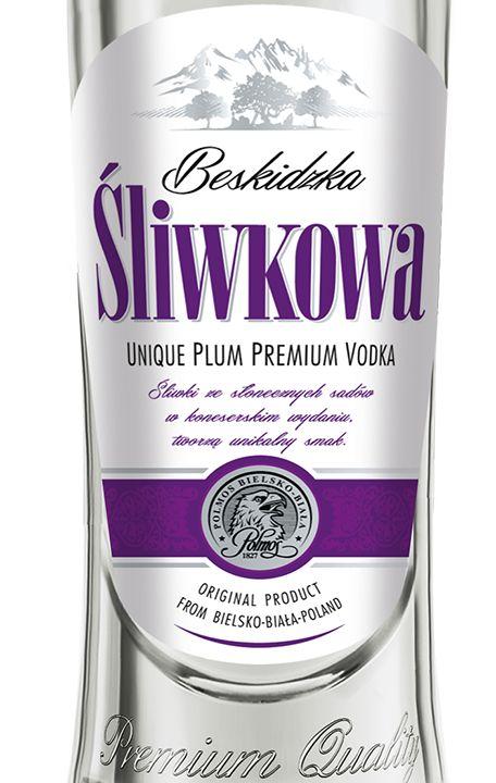 Plum Vodka made in POLMOS in Bielsko-Biała, Poland
