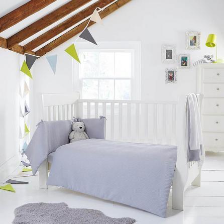 Clair de Lune Waffle Grey Cot Bed Set