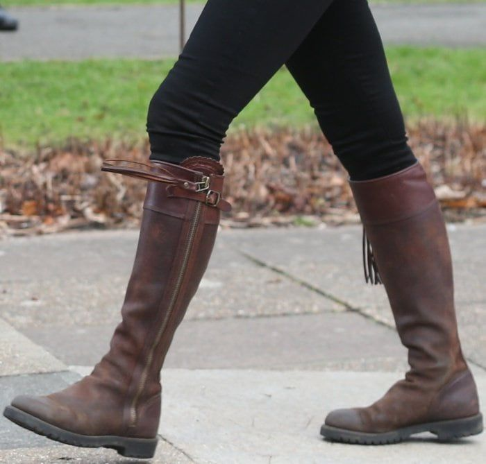 Kate Middleton wearing Penelope Chilvers long tassel boots