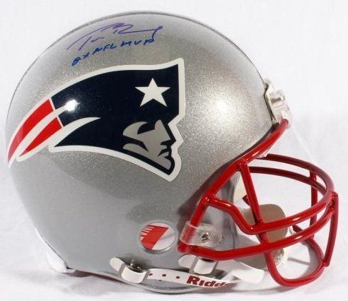 Tom Brady Signed Helmet Autographed with 2x NFL MVP Inscription Full Size Authentic Proline New England Patriots NFL Helmet Autograph . $499.95. Tom Brady Signed Autographed and Inscribed Full Size Authentic Riddell Proline NFL Football Helmet.