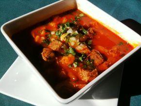 Santa Fe recipes: Casa de Chimayo's posole. I love me some New Mexico chilis. Red good green my favorite!!! Nom nom