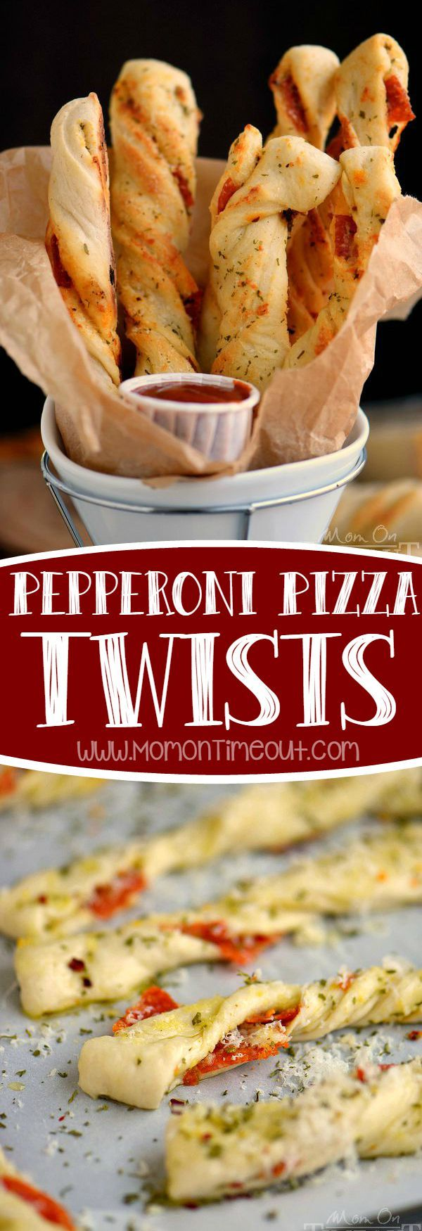 Perfect for game day celebrations or a fun, kid-friendly dinner, these Pepperoni Pizza Twists are guaranteed to become a new family favorite! Easy, cheesy, awesomeness!: