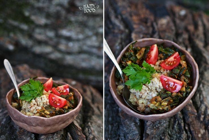 Овсяная каша с запечеными овощами и соевым соусом: my_happyfood