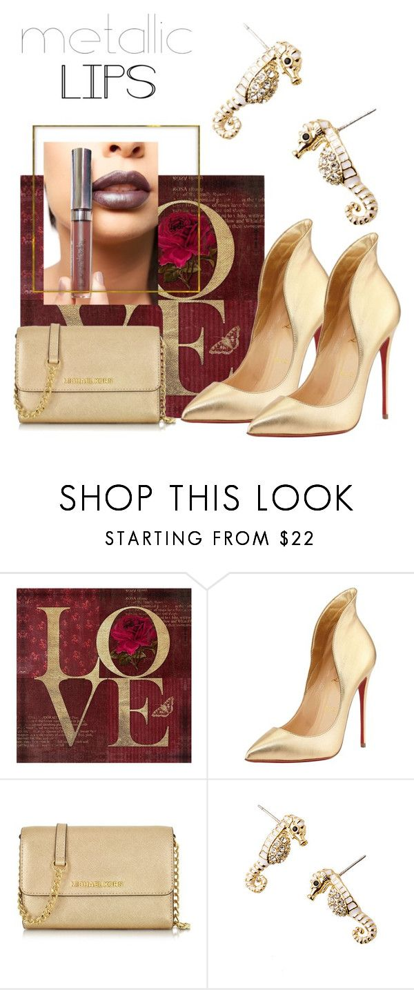 """Metallic idea"" by marievel on Polyvore featuring beauty, Christian Louboutin, Michael Kors, Lilly Pulitzer, LASplash and metalliclips"