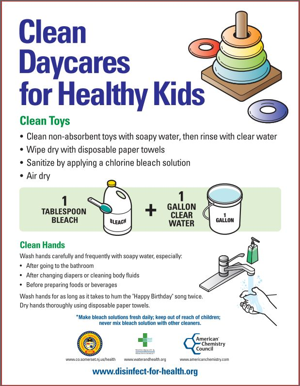 Cleaning Tips For Child Care With Printable Cleaning: Clean Daycares For Healthy Kids