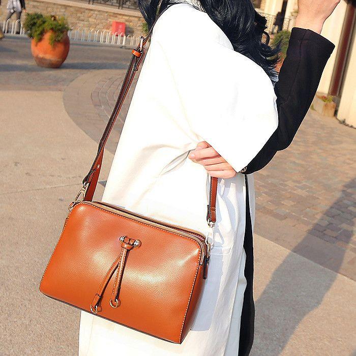 Винтажный женщины в компактный крестики - тело бант - перевязка кожа сумка-мессенджер, Марка дизайн женщины сумка-мессенджер