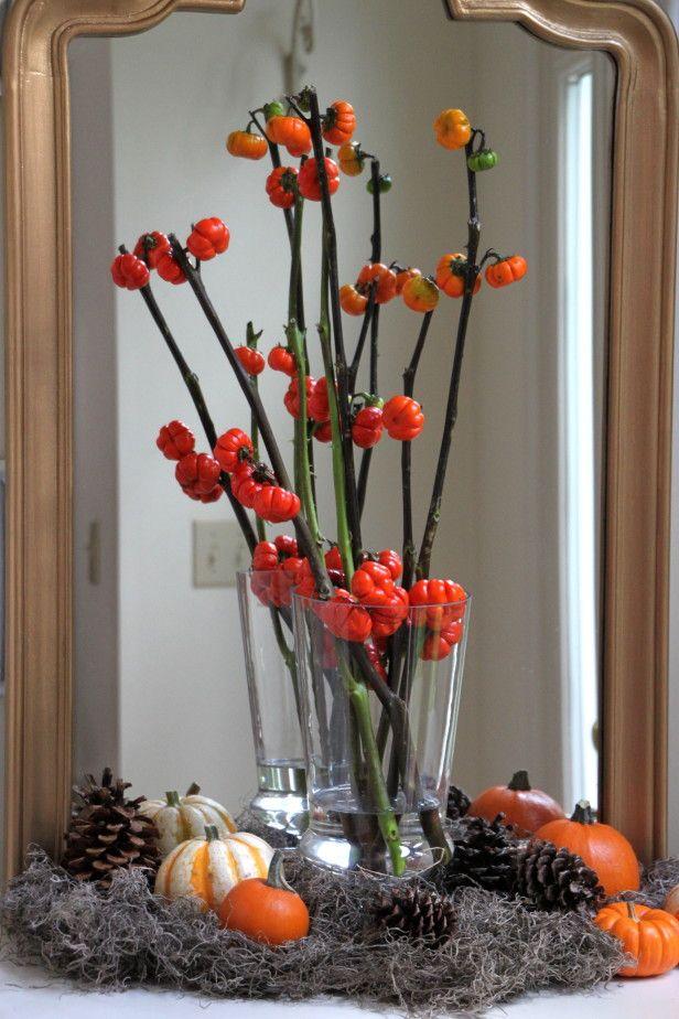Diy Fall Pumpkin Tree Centerpiece Http Www 400 x 300