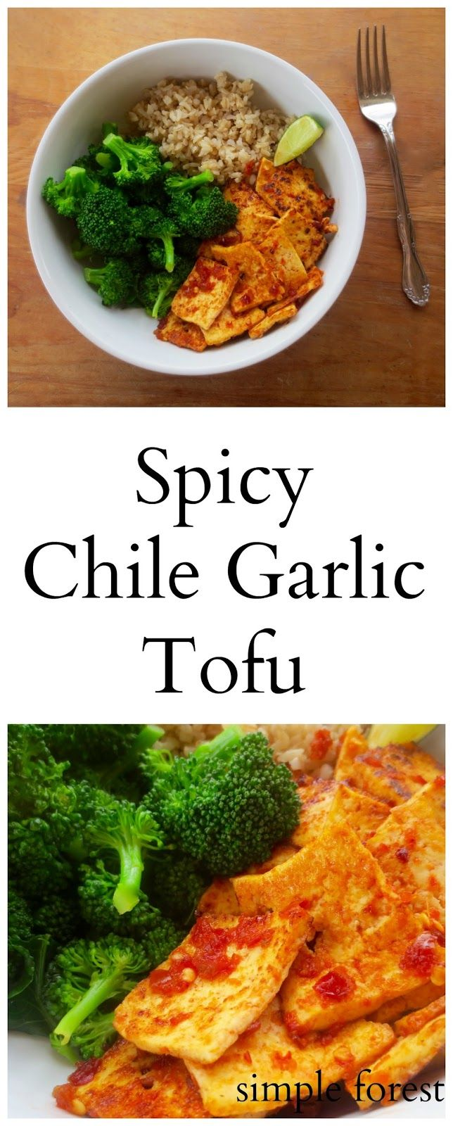 Simple Forest: Spicy Chile Garlic Tofu https://macthelm.blogspot.com/ Super quick to make, this Spicy Chile Garlic Tofu only requires 5 ingredients!