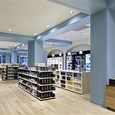 Red Design Group Creative Director, Colin Bell, says his solution for Blue Goose, is a modern take on the classic sensibilities of a stylish 1950's department store.   #reddesigngroup