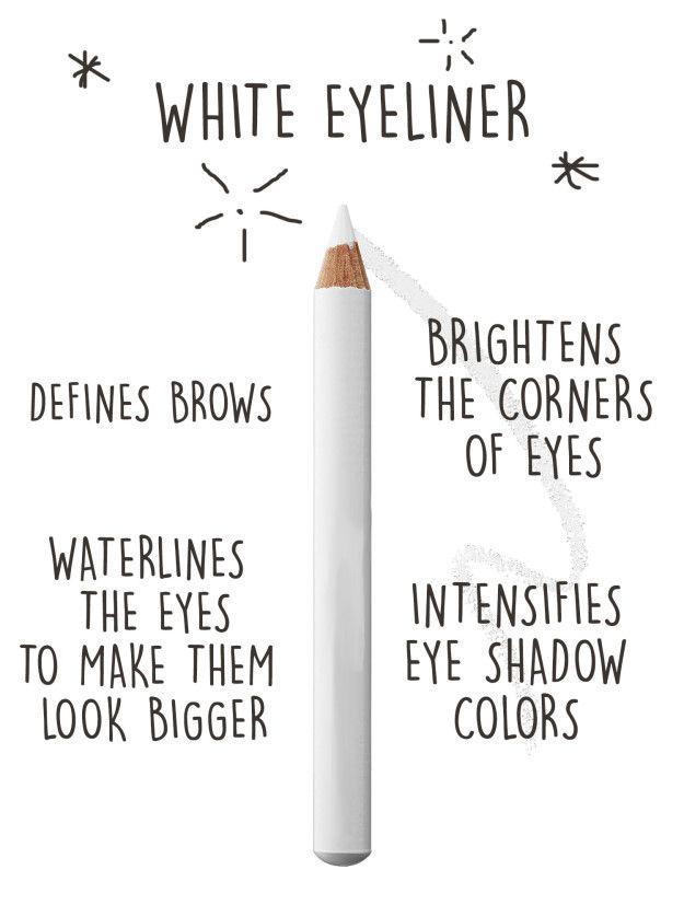 Si vous ne devez choisir qu'un seul outil pour moderniser votre maquillage, investissez dans un eye-liner blanc.