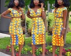 Afrikaanse print jurk Ankara jurk Afrikaanse door Shoplolaster