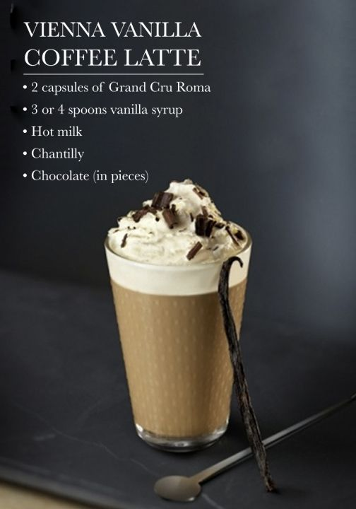 Classic flavors are at it again with this indulgent Vienna Vanilla Coffee Latte featuring creamy froth, aromatic espresso, and Nespresso Grand Cru!