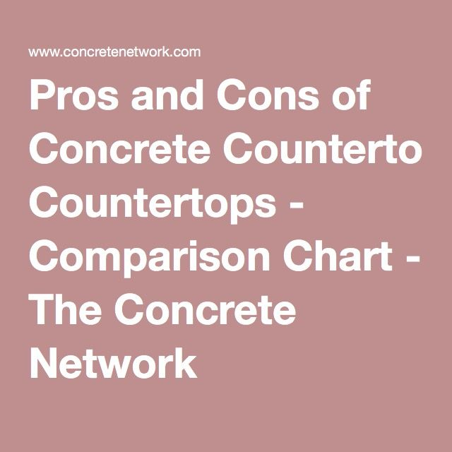 Concrete Countertops Pros And Cons : Images about idriss on pinterest