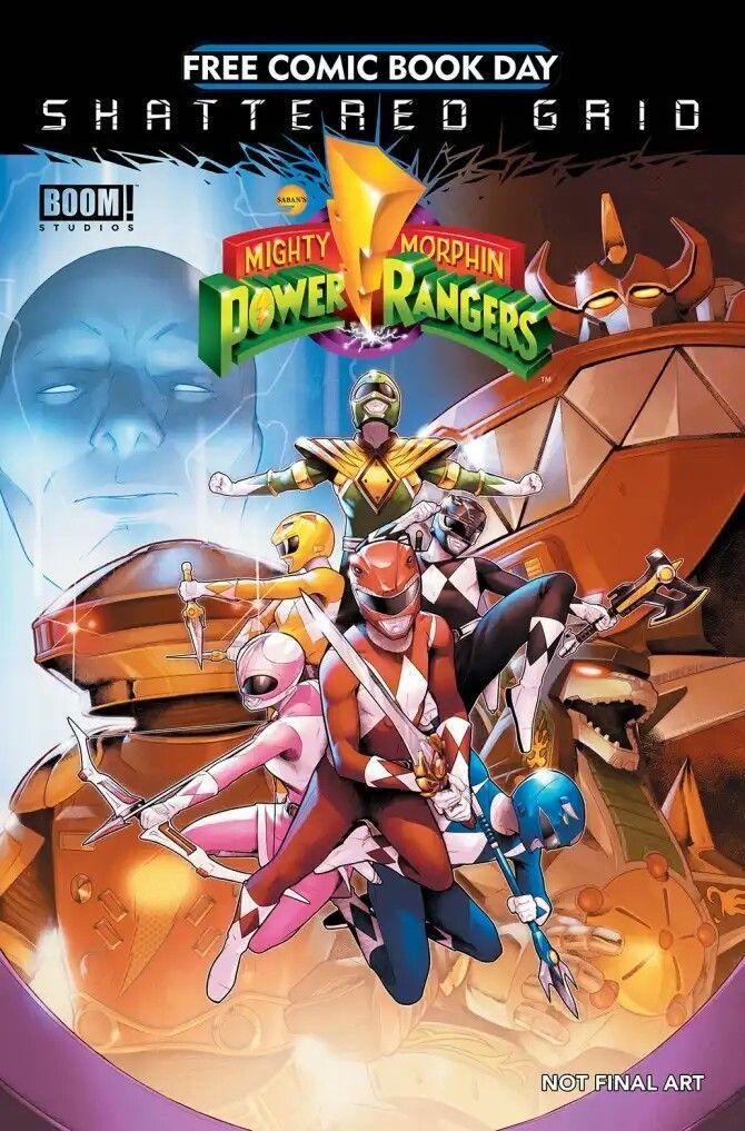 Power Rangers Shattered Grid Fcbd Power Rangers Tokusatsu Super Heroi