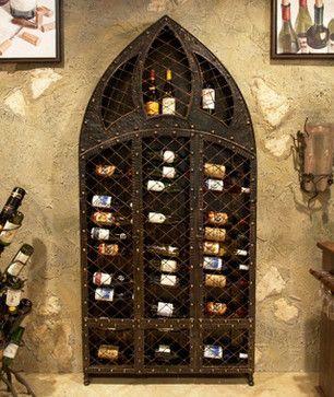 Wrought Iron Wine Rack - 42 Bottle mediterranean wine racks