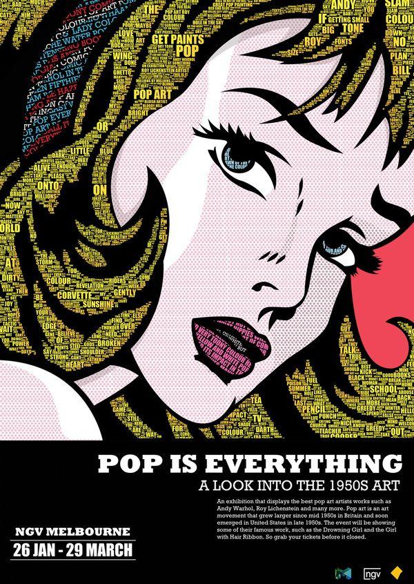 pop art exhibition poster by iwan via behance