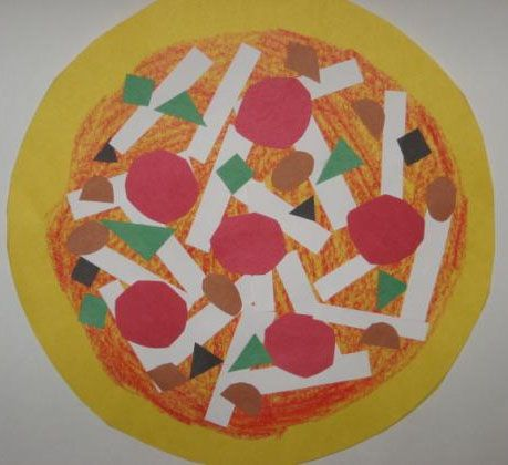 Pizza Shape Collages - was going to do this before the hurricane took up two days of our restaurant unit!