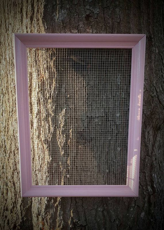Chicken Wire, Jewelry Organizer, Country, Wall Hanging, Rustic, Gift for Her, Frame, Shabby Chic Decor, Jewelry Frame, Jewelry Storage, Pink