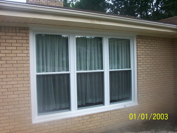 Triple double hung mulled unit windows pinterest for Mulled window unit